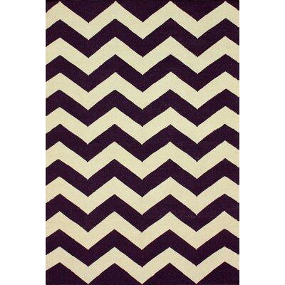 Moderna Purple Chevron Area Rug Rug Size: 76 x 96
