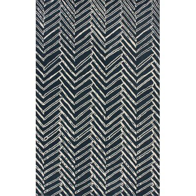 Olivo Denim Chevron Area Rug Rug Size: Rectangle 76 x 96