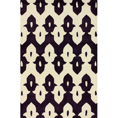 Palazzo Hand-Tufted Wool Purple Area Rug Rug Size: Rectangle 6 x 9