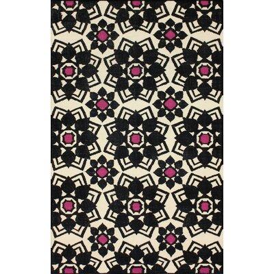Moderna Black Nayla Rug Rug Size: 76 x 96