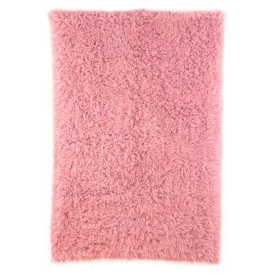 Flokati Rose Dusky Area Rug Rug Size: Rectangle 3'6