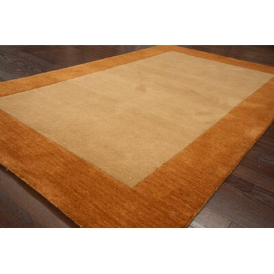 Brilliance Hand-Tufted Gold/Brown Area Rug Rug Size: 5 x 8