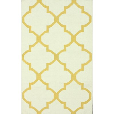 Moderna Hand-Woven Wool Gold Area Rug Rug Size: Rectangle 76 x 96