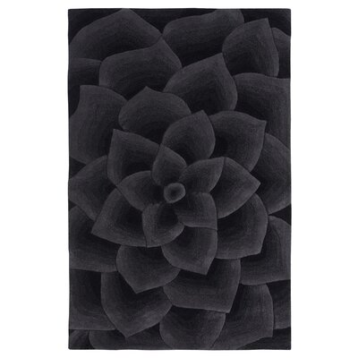 Moderna Hand-Tufted Charcoal Area Rug Rug Size: Rectangle 76 x 96