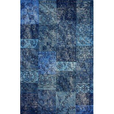 Hides Blue Patchwork Area Rug Rug Size: 7'6
