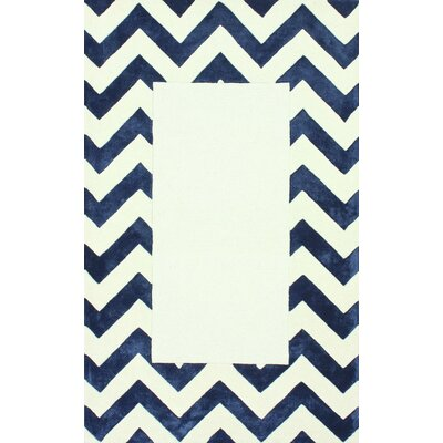 Perry Hand Tufted Navy Area Rug Rug Size: 76 x 96