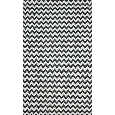Brilliance Grey/White Chevon Indoor/Outdoor Area Rug Rug Size: 8 x 10