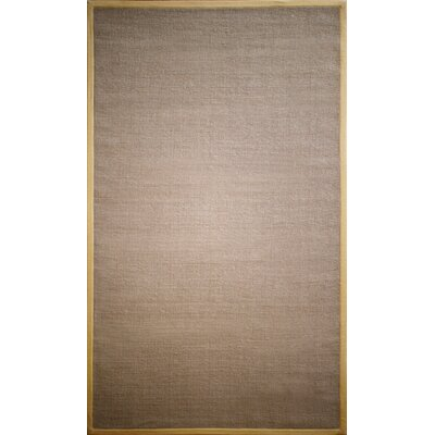 Natura Jute Brown Area Rug Rug Size: 8 x 10