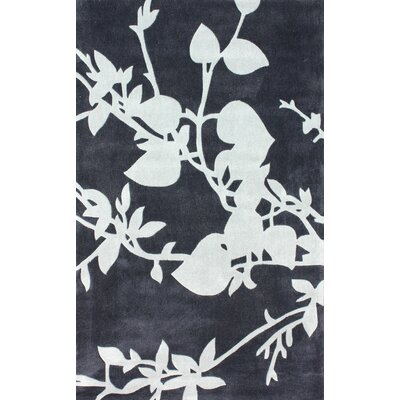Cine Charcoal Jardin Vert Rug Rug Size: Rectangle 76 x 96