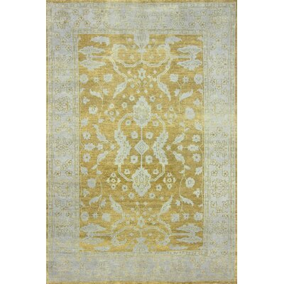 Ayers Gold Alexia Area Rug Rug Size: Rectangle 5 x 8