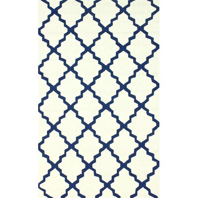 Veranda White Filigree Outdoor Area Rug Rug Size: 5 x 8