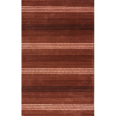 Brilliance Red Jordan Area Rug Rug Size: 5 x 8