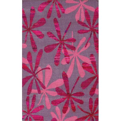 Meridean Kylie Hand-Knotted Pink Area Rug Rug Size: Rectangle 8 x 10