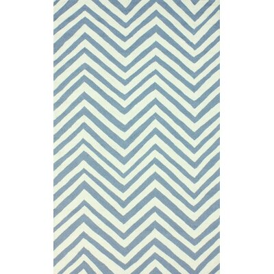 Veranda Light Blue Chevron Area Rug Rug Size: 5 x 8