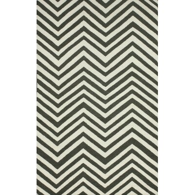 Flatweave Retro Chevron Area Rug Rug Size: 76 x 96