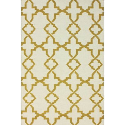 Flatweave Mustard Willow Area Rug Rug Size: 5 x 8