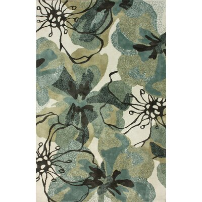 Pop Forest Green/Black Area Rug Rug Size: Rectangle 5 x 8