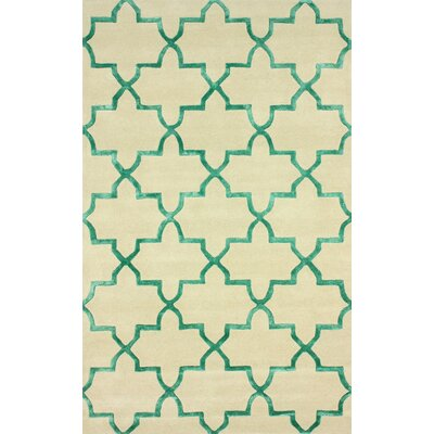Goodwin Beige/Green Camila Area Rug Rug Size: Rectangle 5 x 8