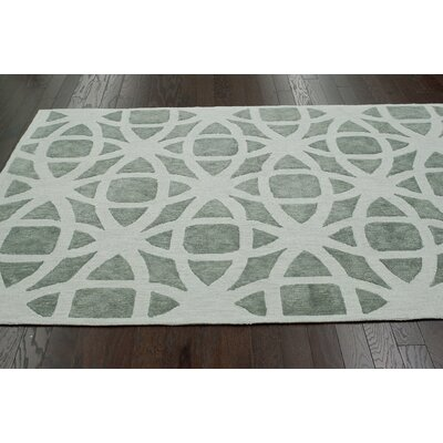 Brilliance Alejandro Hand-Hooked Gray Area Rug Rug Size: Rectangle 5 x 8