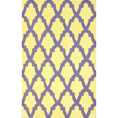 Brilliance Yellow/Purple Damian Area Rug Rug Size: Rectangle 76 x 96