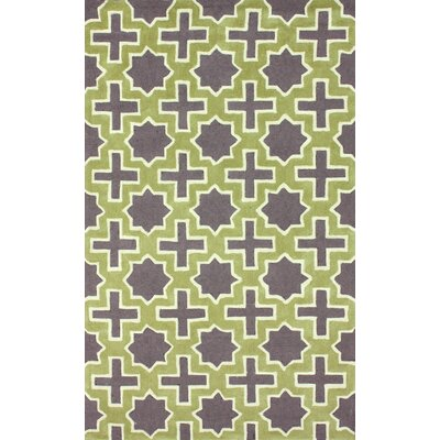 Homestead Nala Geometric Hand-Tufted Purple/Green Area Rug Rug Size: 5 x 8