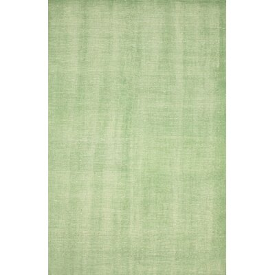 Zem Wynona Hand-Knotted Wool Green Area Rug Rug Size: Rectangle 4 x 6