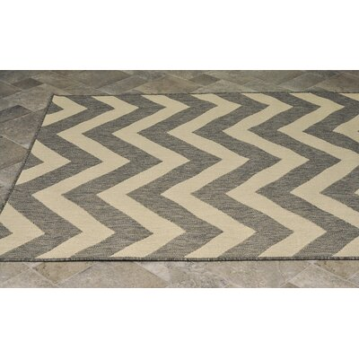 Maxwellton Chevron Tan/Brown Indoor/Outdoor Area Rug Rug Size: Rectangle 511 x 9
