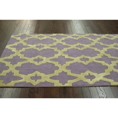 Homestead Heather Geometric Hand-Tufted Green/Gray Area Rug Rug Size: 5 x 8