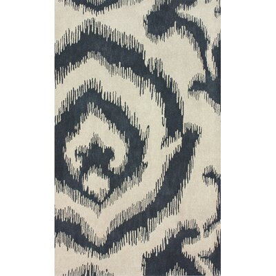 Goodwin Hand-Tufted Wool Cream/Black Area Rug Rug Size: Rectangle 5 x 8