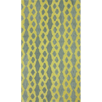 Brilliance Grey/Yellow Hannah Plush Area Rug Rug Size: 76 x 96
