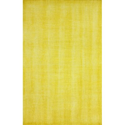 Zem Wynona Hand-Knotted Wool Gold Area Rug Rug Size: Rectangle 76 x 96