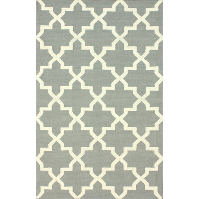 Moderna Hand-Woven Wool Gray Area Rug Rug Size: Rectangle 76 x 96