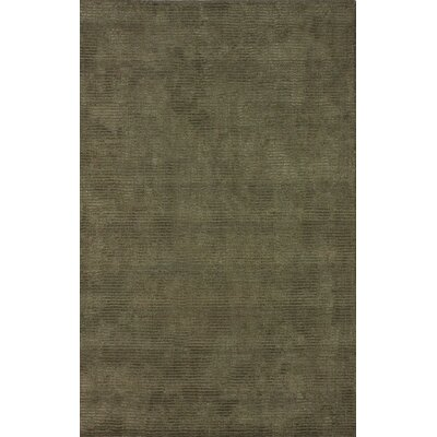 Goodwin Hand-Tufted Wool Olive Area Rug Rug Size: Rectangle 76 x 96
