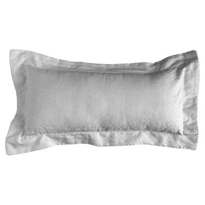 650 Thread Count Jacquard Cotton Boudoir/Breakfast Pillow Color: White