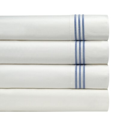 300 Thread Count Embroidered Euro Sham Color: Blue