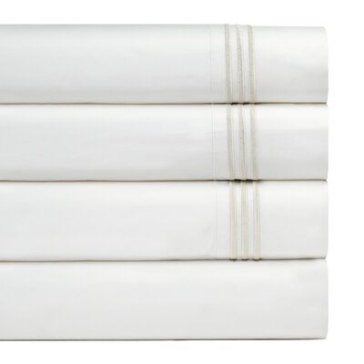 300 Thread Count Embroidered Euro Sham Color: Ivory