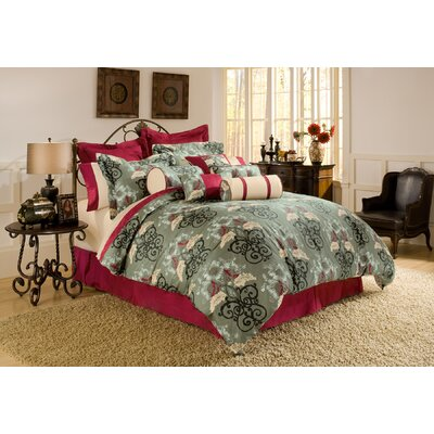 Coronado 4 Piece Comforter Set Size: Queen