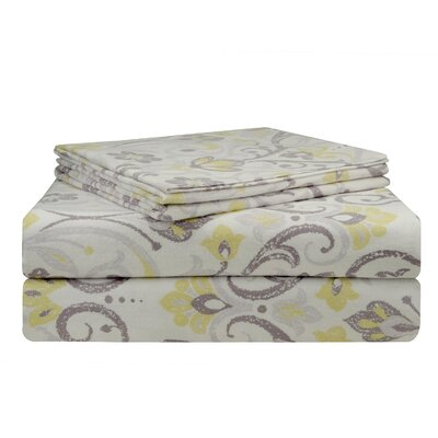 Meadow Flannel Sheet Set Size: Queen