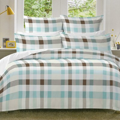 Monet Flannel Duvet Cover Set Size: Twin/Twin XL
