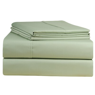 500 Thread Count 4 Piece Sheet Set Size: King, Color: Sage