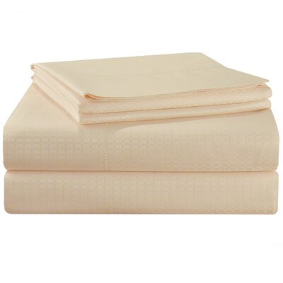 Dobby 525 Thread Count Pima Cotton Pillowcases Size: Standard, Color: Powder Puff