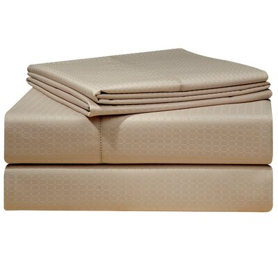 Dobby 525 Thread Count Pima Cotton Sheet Set Size: Queen, Color: Silver Gray