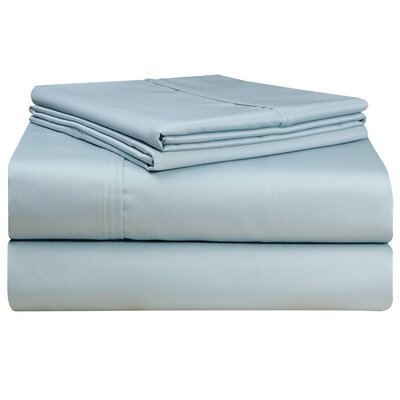 500 Thread Count 4 Piece Sheet Set Size: Queen, Color: Blue