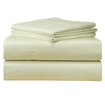 500 Thread Count 4 Piece Sheet Set Size: Queen, Color: Ivory