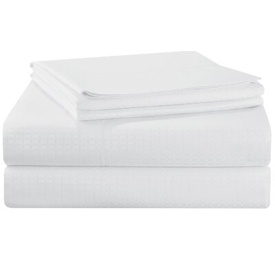 Dobby 525 Thread Count Pima Cotton Pillowcases Size: King, Color: White