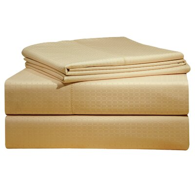 Dobby 525 Thread Count Pima Cotton Sheet Set Size: Queen, Color: Powder Puff