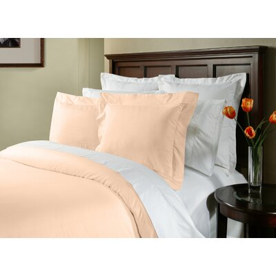 Dobby 3 Piece Duvet Cover Set Size: Full/Queen, Color: Powder Puff