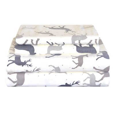 Autumn Deer Cotton Sheet Set Size: Full