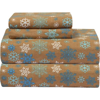 Heavy Weight Printed Flannel Sheet Set Size: Queen