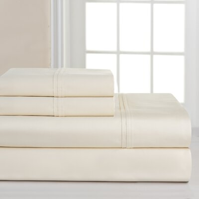 700 Thread Count Deep Pocket Pima Sheet Set Size: King, Color: Bone